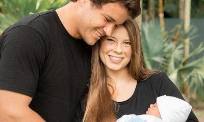 ¡Oooh!  Bindi Irwin le dio la bienvenida a su primer hijo, Grace Warrior, el mes pasado.  En la foto con su esposo Chandler Powell