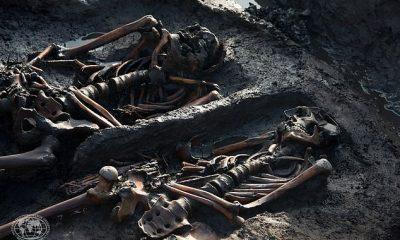 Trabajos de excavación en el entierro real de Tunnug en el Valle de los Reyes, República de Tuva