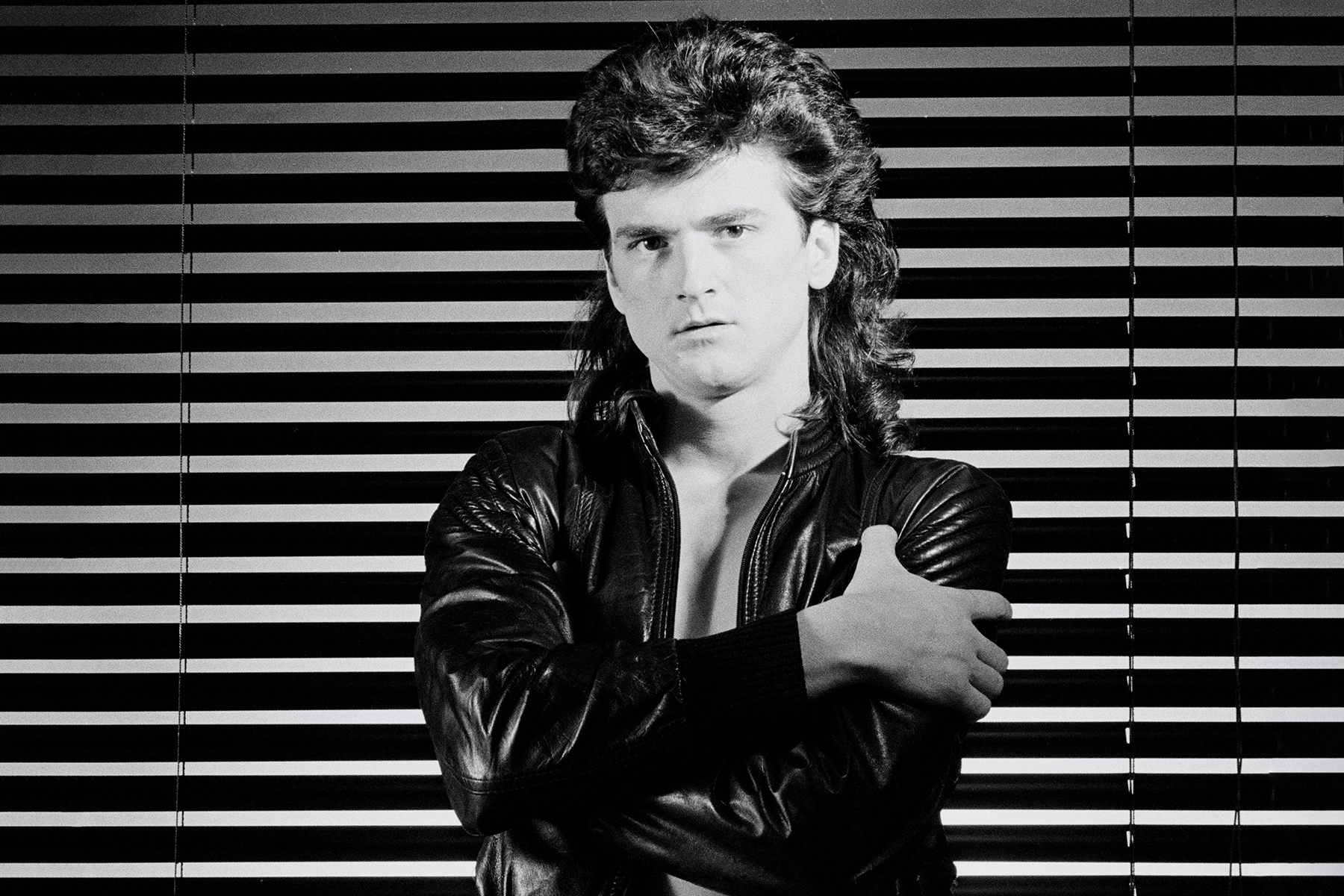LONDON - 1st DECEMBER: Singer Les McKeown (ex Bay City Rollers) posed in London in December 1979. (Photo by Fin Costello/Redferns)