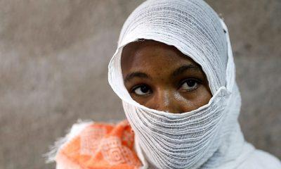Una madre de 27 años (en la foto) en la región de Tigray en Etiopía ha hablado después de pasar 11 días siendo violada y abusada por soldados.