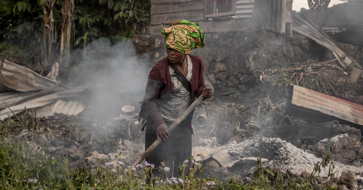 La erupción del volcán de la República Democrática del Congo deja muerte y rastro de destrucción