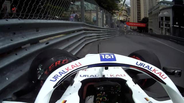 Mick Schumacher descartado de la clasificación después de un gran accidente en la práctica final en Mónaco