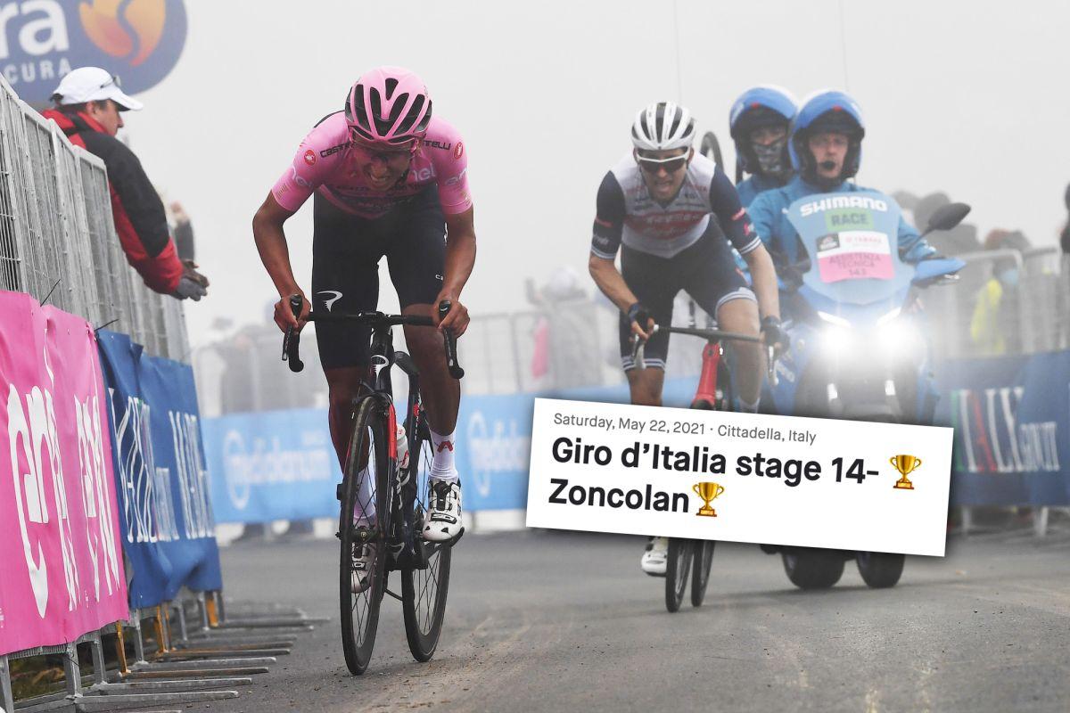 Strava muestra lo difíciles que fueron realmente los metros finales del Monte Zoncolan del Giro de Italia