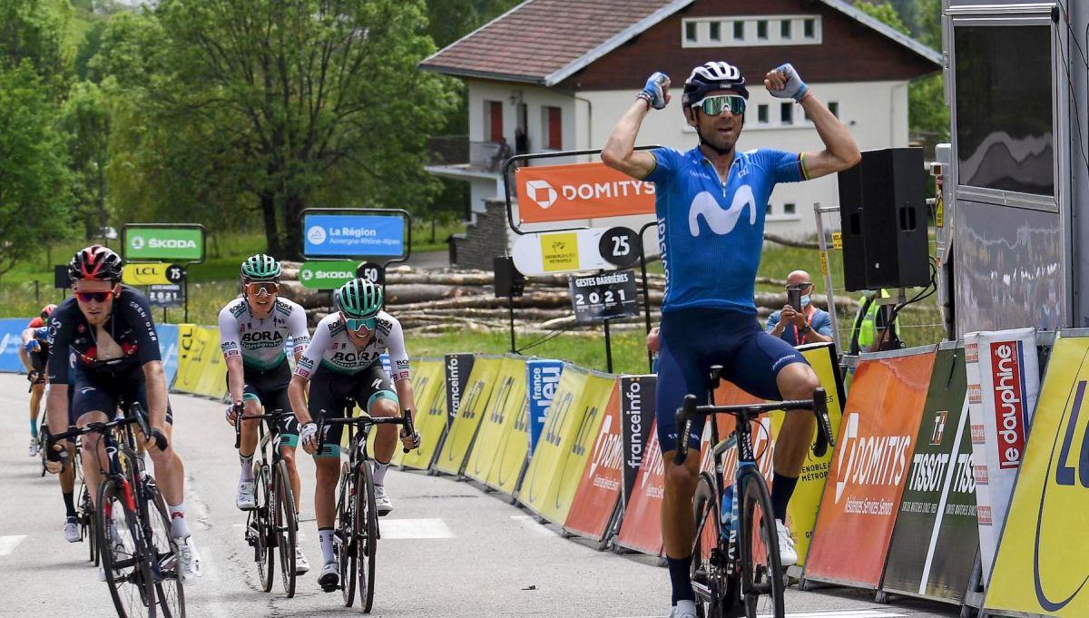 Alejandro Valverde supera a Tao Geoghegan Hart para ganar la sexta etapa del Critérium du Dauphiné 2021