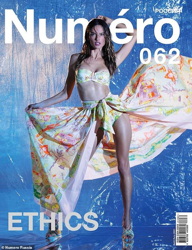 ¡Ab fabuloso!  Alessandra Ambrosio se veía increíble mientras mostraba sus abdominales de tabla de lavar en una nueva y sensual portada para la edición de verano de 2021 de Numéro Rusia