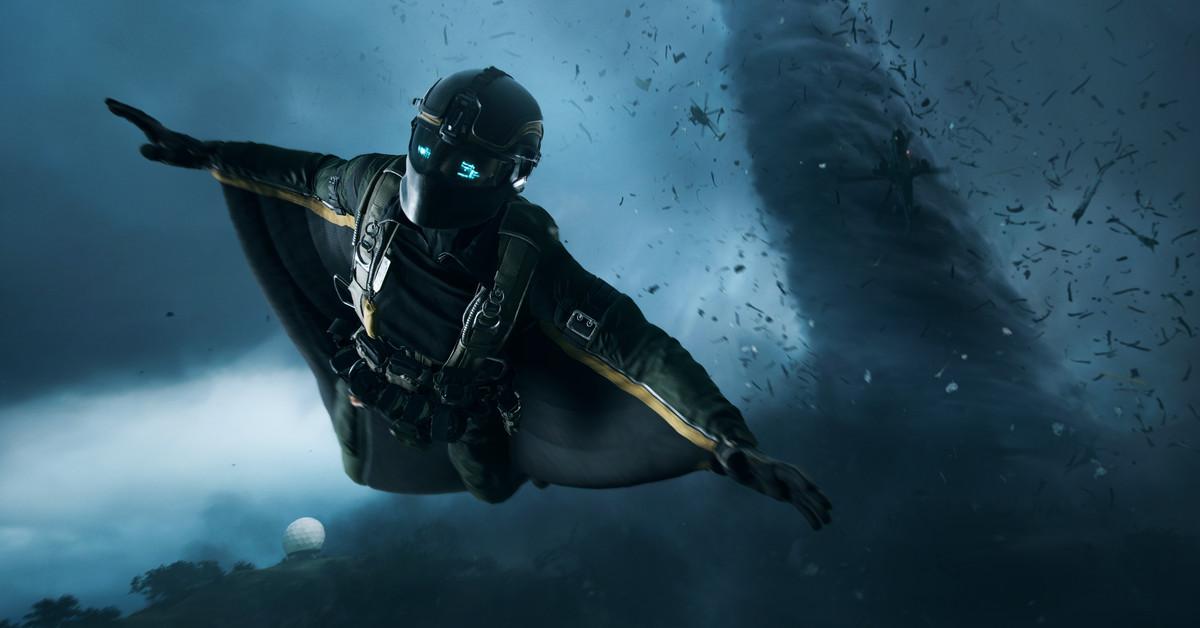 Battlefield 2042 presenta batallas gigantes de 128 jugadores y tornados devastadores