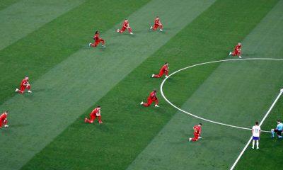 Belgas abucheados por arrodillarse en la Eurocopa 2020