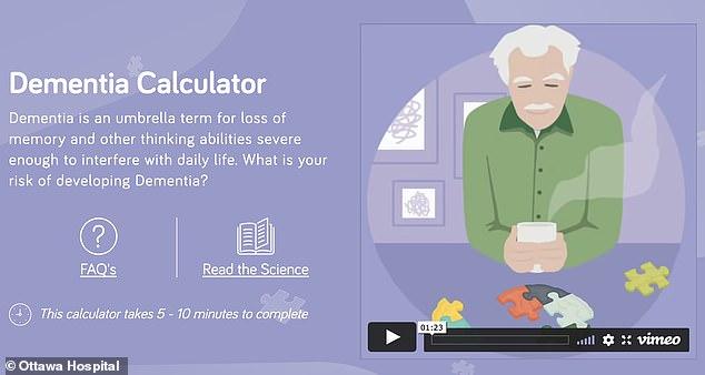 Una nueva herramienta que puede predecir sus posibilidades de desarrollar demencia a medida que envejece ha sido desarrollada por investigadores que dicen que puede ayudar a los mayores de 55 años a estar preparados