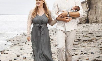 Preciosa: la cantante clásica Camilla Kerslake y el ex capitán de rugby de Inglaterra Chris Robshaw han revelado que han nombrado a su hijo recién nacido Wilding