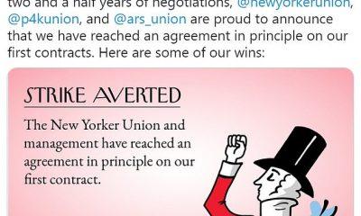 The New Yorker Union anunció este miércoles en Twitter que habían llegado a un acuerdo con Conde Nast