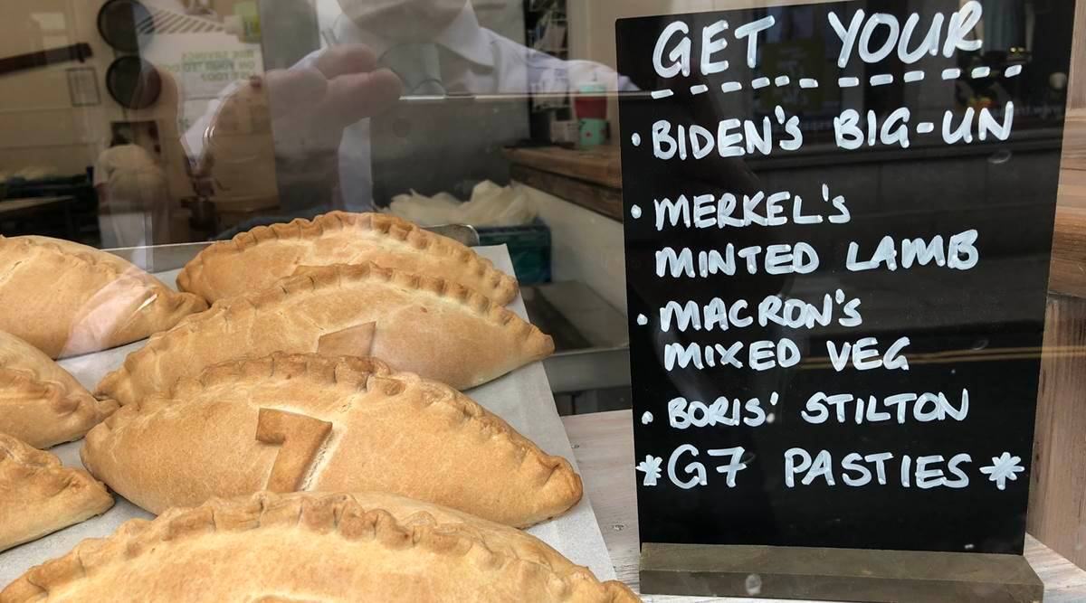 pasties, pasties named after world leaders, G7-themed pasties, G7 Summit, pasties in the G7 Summit, indian express news