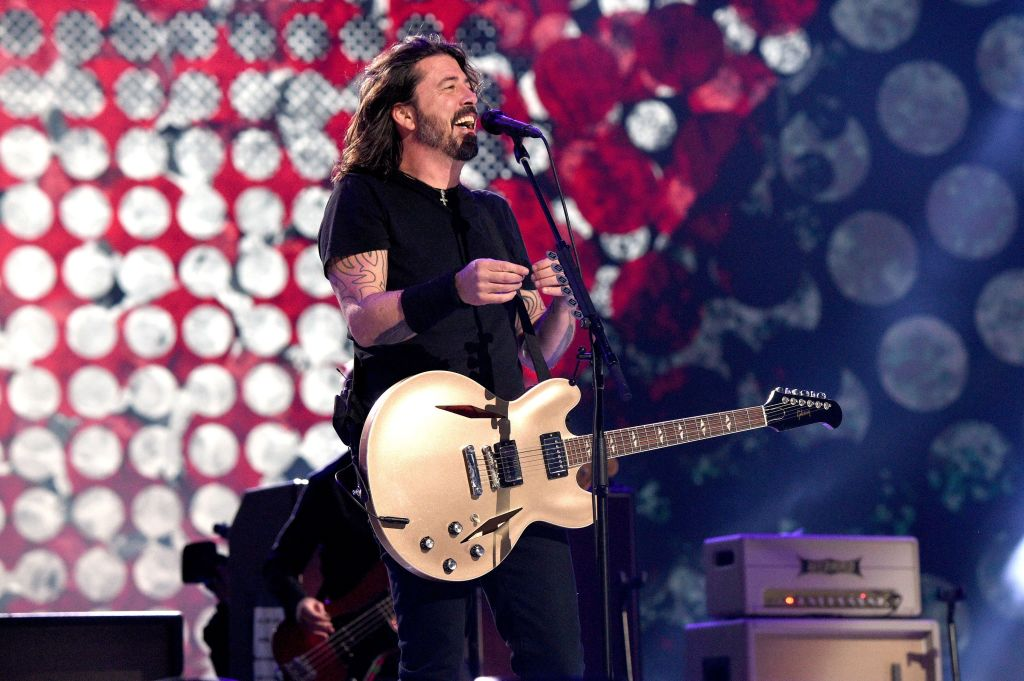 INGLEWOOD, CALIFORNIA: In this image released on May 2, Dave Grohl of music group Foo Fighters performs onstage during Global Citizen VAX LIVE: The Concert To Reunite The World at SoFi Stadium in Inglewood, California. Global Citizen VAX LIVE: The Concert To Reunite The World will be broadcast on May 8, 2021. (Photo by Kevin Mazur/Getty Images for Global Citizen VAX LIVE)