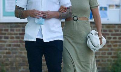 Enamorados: Frankie Bridge y su esposo Wayne disfrutaron de una noche poco común en el restaurante 63rd + 1st - Cobham en Surrey el sábado