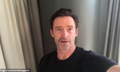 Hábil: Hugh Jackman se puso creativo para ayudar a curar su aburrimiento de cuarentena en un hotel en Sydney el miércoles, compartiendo los frutos de su trabajo en Instagram.