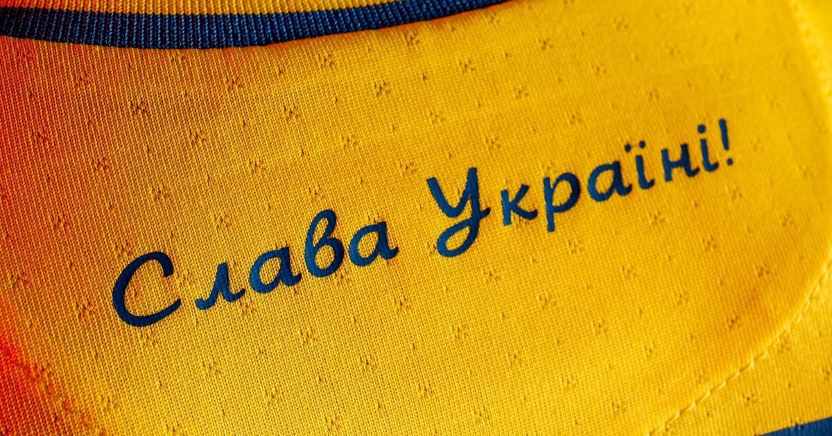 La UEFA le pide a Ucrania que elimine el eslogan 'político' de la equipación del euro