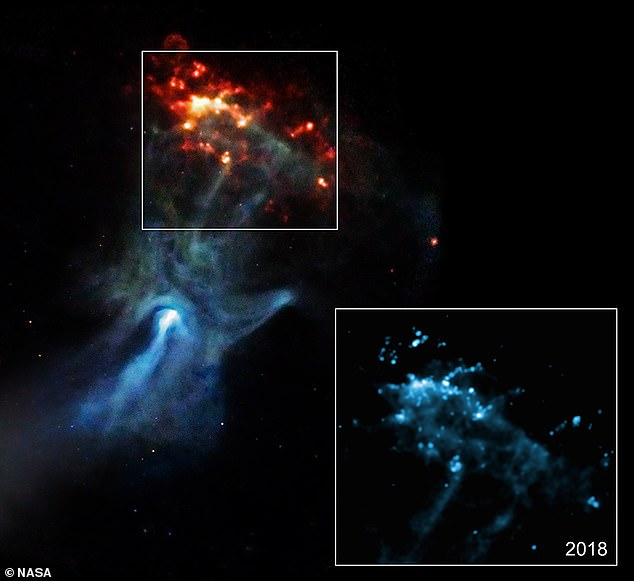 Los restos de una explosión de supernova que parece un 'brazo que llega al espacio' están formados por luz que llegó a la Tierra por primera vez hace 1.700 años, según un nuevo estudio descubierto