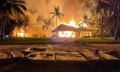 En llamas: la famosa villa mexicana del fundador de Girls Gone Wild, Joe Francis, Casa Aramara, se incendió el martes por la noche, según TMZ