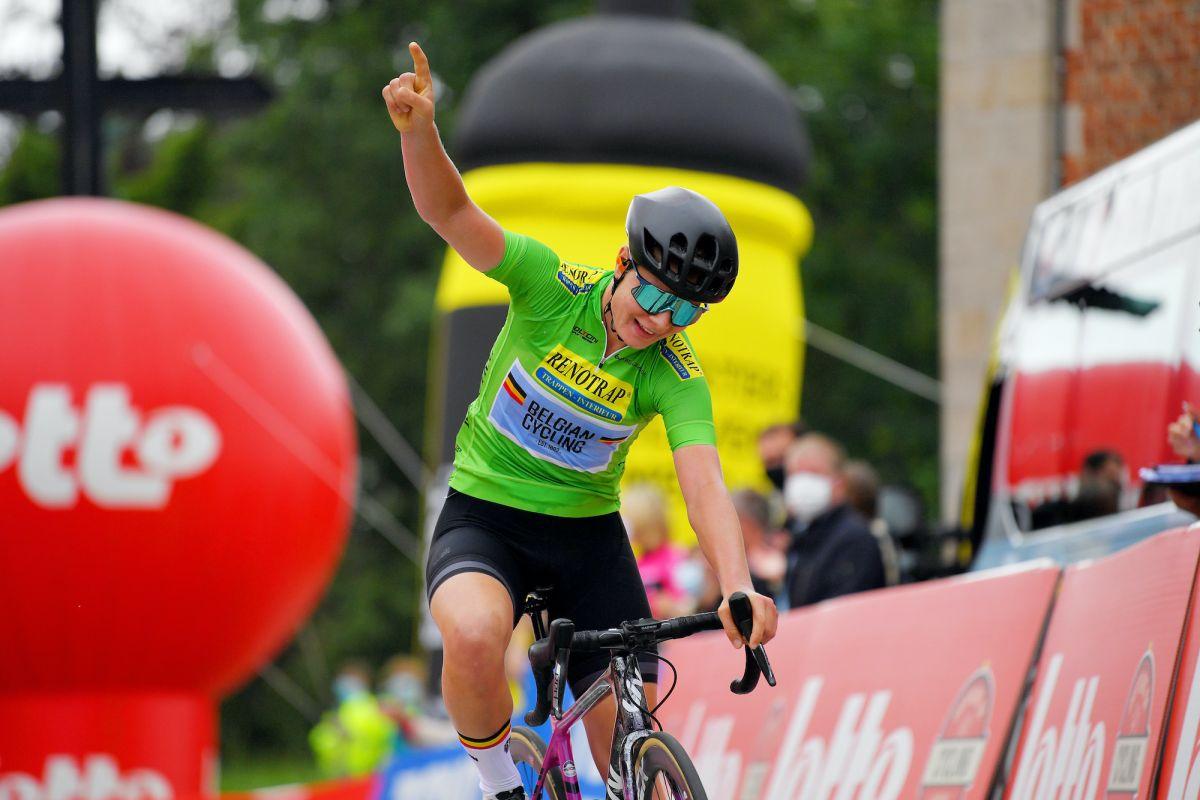 Lotte Kopecky toma la etapa final y la clasificación general en el Lotto Belgium Tour