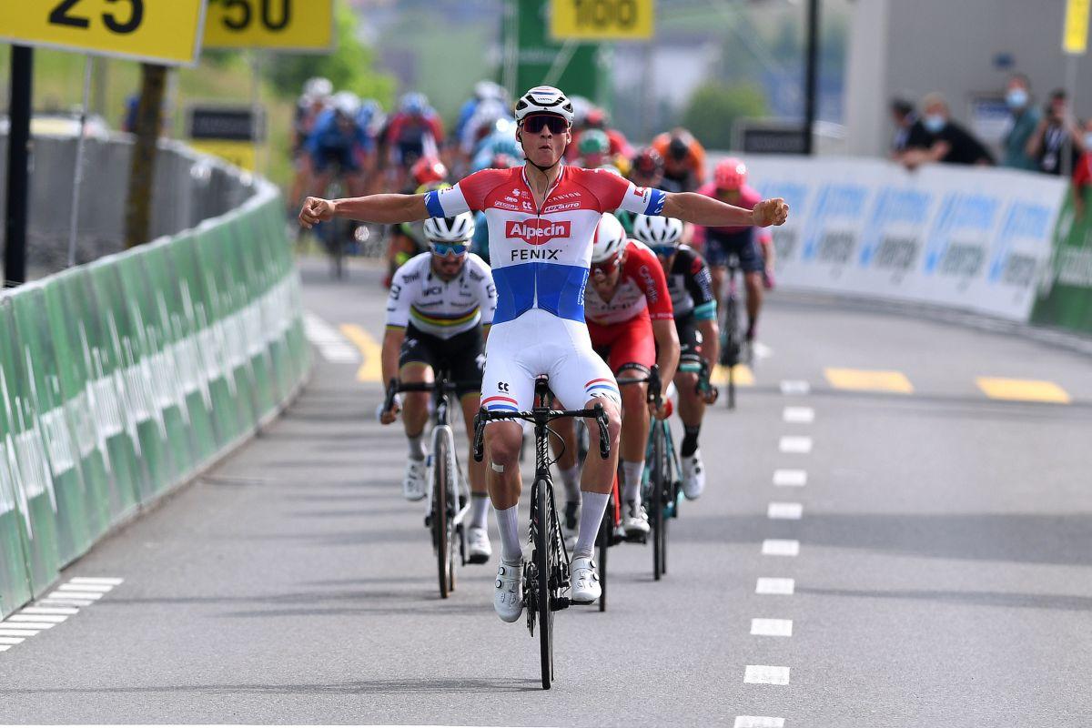 Mathieu van der Poel logra una segunda victoria de etapa y una ventaja general en el Tour de Suisse 2021