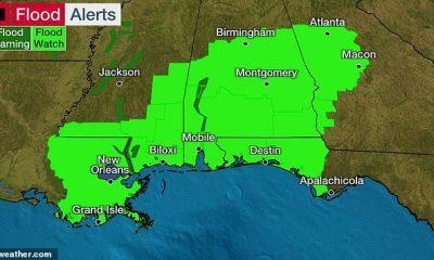Más de 6 millones a lo largo de la costa del Golfo de EE. UU. Desde Intercoastal City, Louisiana hasta la frontera entre Florida y Alabama, están bajo una advertencia de tormenta tropical, y se espera que toque tierra el viernes por la noche.
