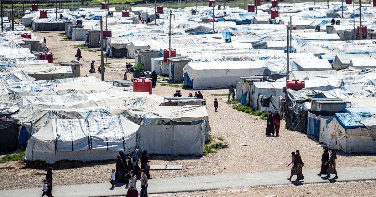 Mujer holandesa y tres niños repatriados del campamento del EIIL sirio