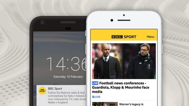 Notificaciones, redes sociales y más con BBC Sport