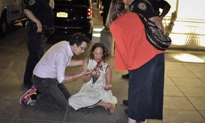 Una mujer fue cortada en la cara en Washington Square Park el viernes por la noche después de que, según informes, se enfrentara a los asistentes a la fiesta.