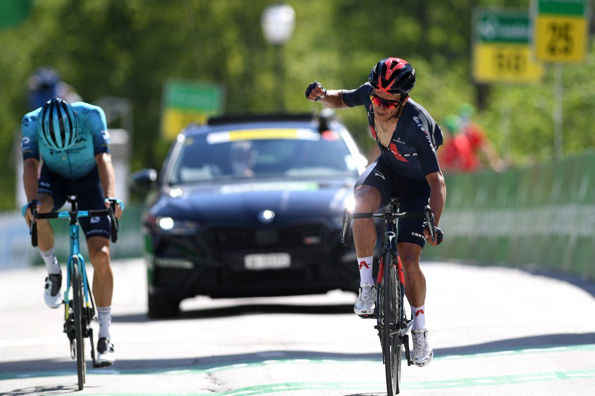 Richard Carapaz tiene poder para la victoria de la etapa y el liderato general en la etapa cinco del Tour de Suisse 2021
