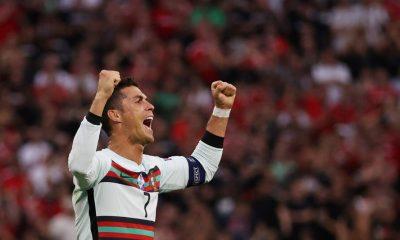 Ronaldo anota 2, Portugal vence 3-0 a Hungría en la Eurocopa 2020