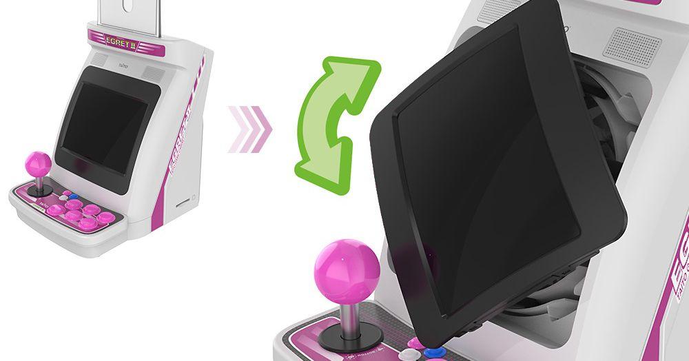 Taito anuncia un mini gabinete arcade con pantalla giratoria y controlador trackball