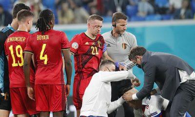 Timothy Castagne se perderá el resto de la Euro 2020 con una doble fractura en la cuenca del ojo
