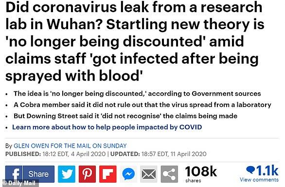 Un científico chino 'presentó una patente para una vacuna COVID ANTES de que el virus fuera declarado una pandemia mundial'