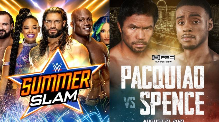 WWE SummerSlam será un espectáculo más corto debido a la pelea de Manny Pacquiao vs Errol Spence    Noticias de lucha libre
