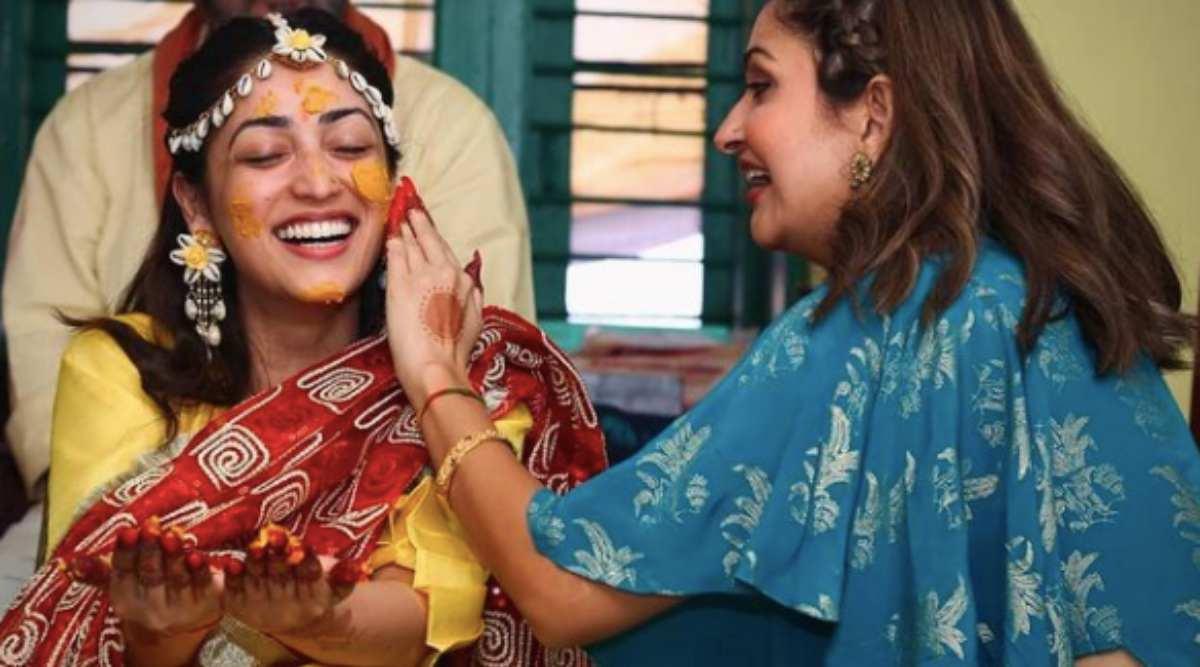 yami gautam, yami gautam wedding photos, yami gautam wedding photos, yami gautam wedding photos, yami gautam haldi photos, indian express, indian express news