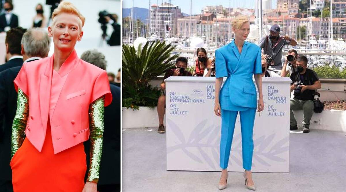 Cannes 2021: Tilda Swinton lleva el estilo andrógino a la alfombra roja