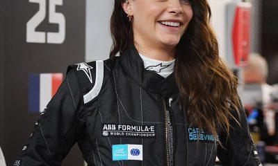 Cara Delevingne viste un elegante traje de carreras en el E-Prix de Londres 2021
