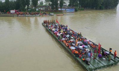 Hombre en el centro de China sobrevive 3 días en un garaje inundado