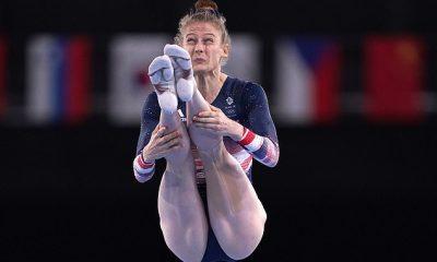 El trampolinista del equipo GB Bryony Page se aseguró una medalla de bronce para asegurar medallas consecutivas