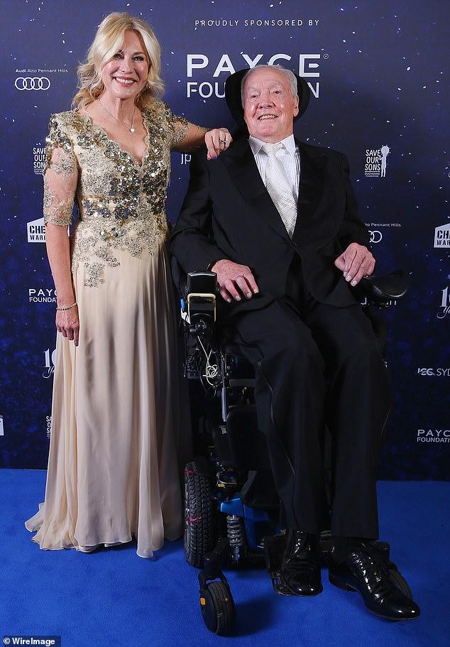 Difícil: Kerri-Anne Kennerley ha revelado el devastador costo financiero de cuidar a su difunto esposo John después de una trágica caída en 2016 que lo dejó en silla de ruedas.  Fotografiado en junio de 2018