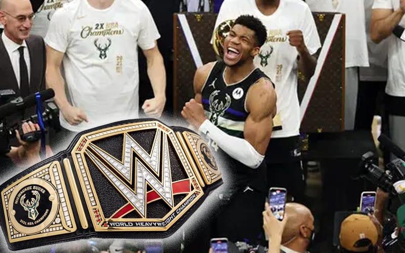 Los Milwaukee Bucks obtienen un cinturón de título WWE personalizado después de ganar el campeonato de la NBA