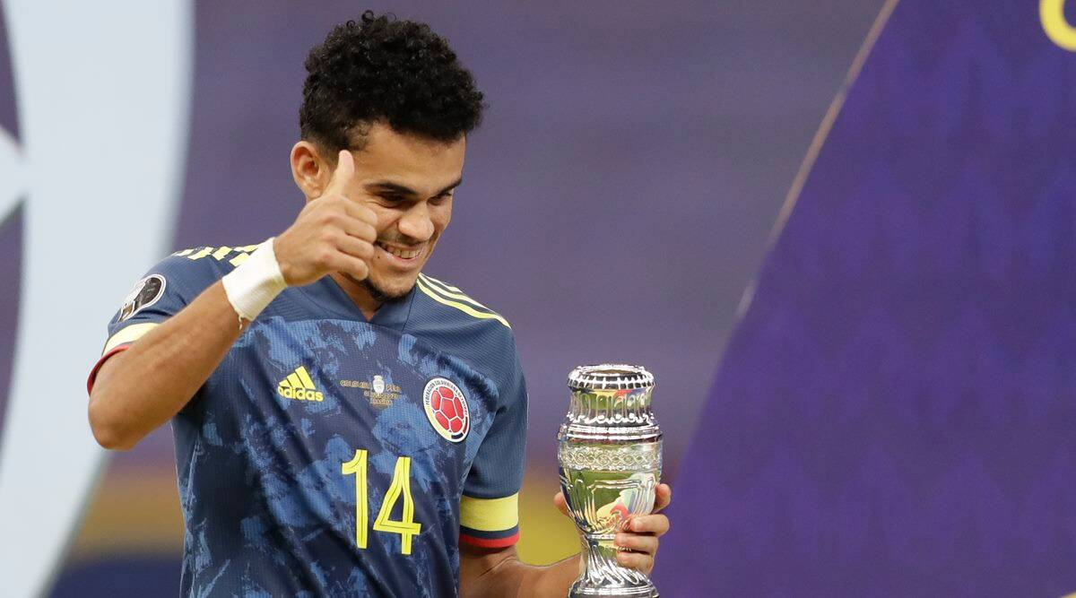 Luis Diaz, Luis Diaz colombia, Luis Diaz revelation copa america, copa america team of tournament