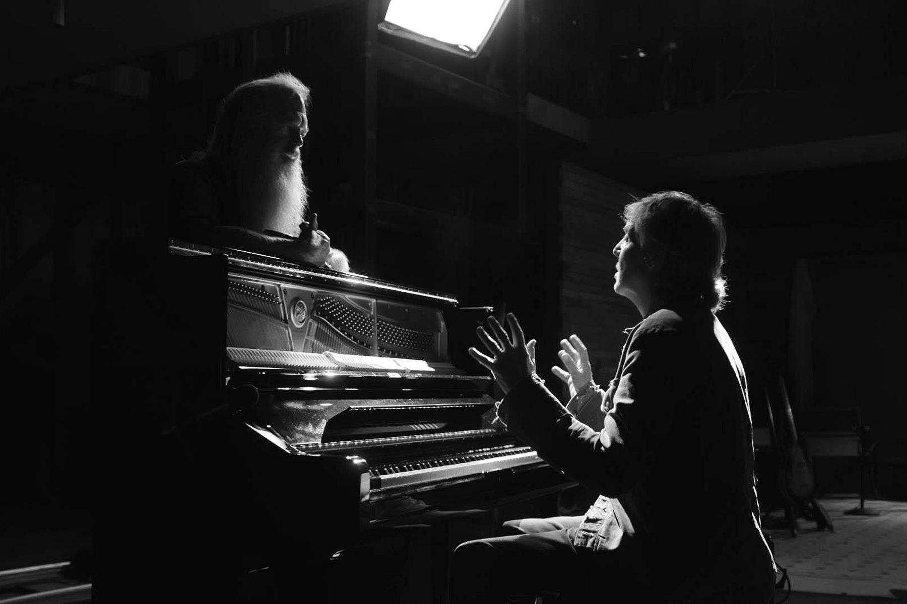 Rick Rubin and Paul McCartney in the Hulu documentary series 'McCartney 3, 2, 1.'