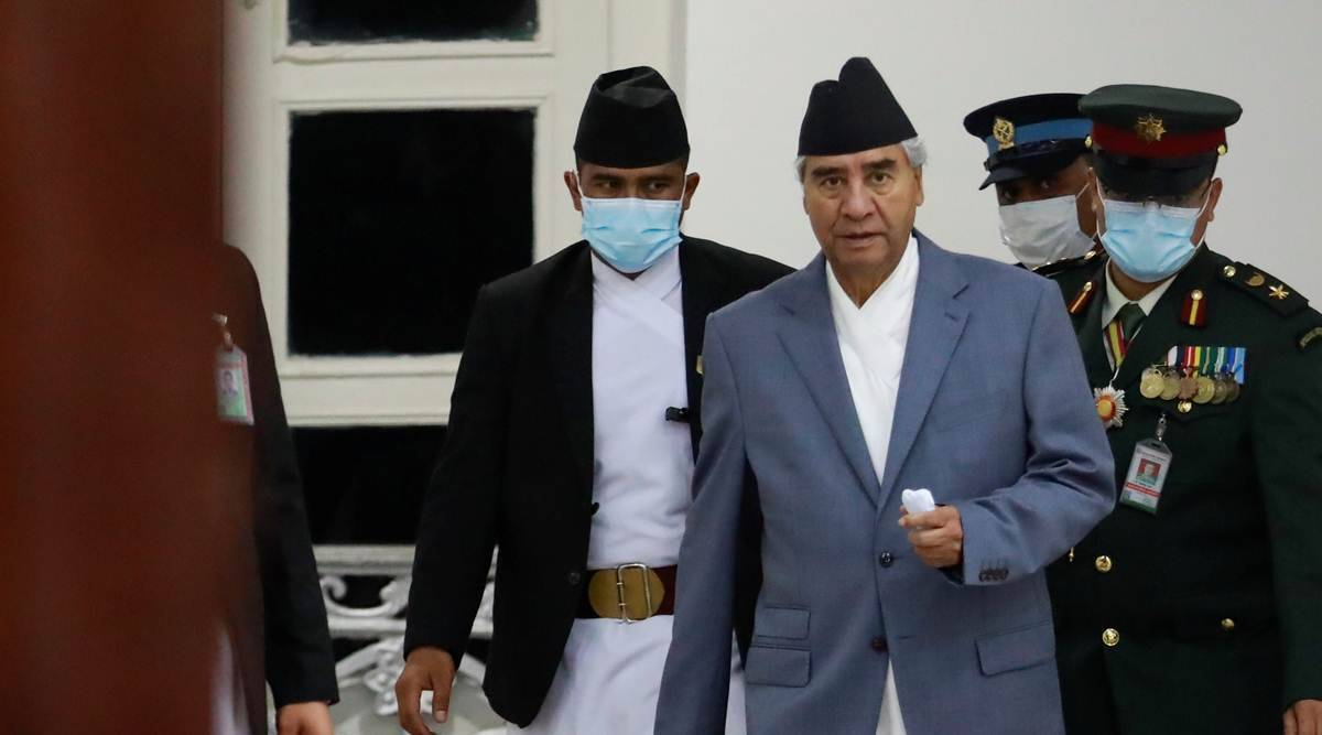Nepal Prime Minister Sher Bahadur Deuba