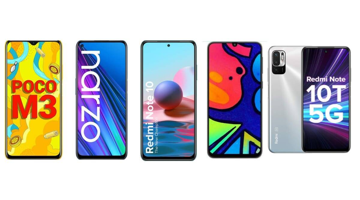 Redmi Note 10, Realme Narzo 30, Redmi Note 10T 5G, Samsung Galaxy F41, Poco M3, Best battery phones, best phones below Rs 15000,