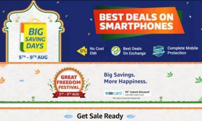 Comienza la venta de Amazon Great Freedom Festival, Flipkart Big Saving Days: Ver ofertas