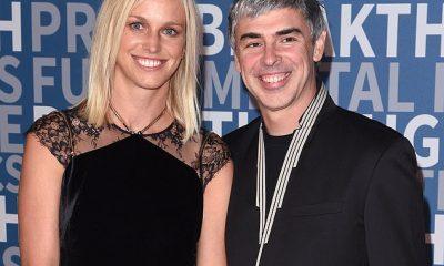 Larry Page, de 48 años, con su tímida esposa Lucinda Southworth, de 42. La pareja tiene dos hijos juntos, un niño nacido en 2009 y otro hijo nacido en 2011. Southworth es un científico investigador y es la hermana de la actriz Carrie Southworth.