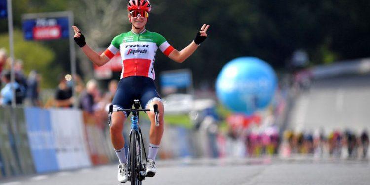 Elisa Longo Borghini logra un éxito en solitario al cautivar el GP Plouay 2021