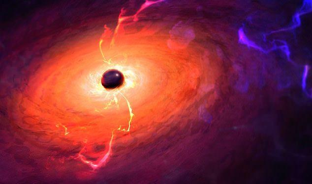 Una docena de agujeros negros supermasivos rebeldes (como se muestra) pueden estar merodeando por la Vía Láctea, consumiendo todo a su paso, ha propuesto un estudio.