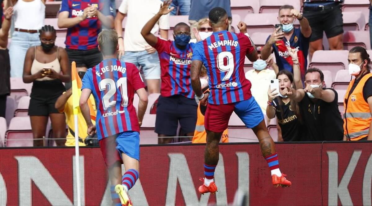 La Liga: Memphis Depay lleva al Barcelona a una estrecha victoria sobre el Getafe