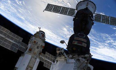 La NASA ha revelado nuevos detalles sobre un percance preocupante que vio a la Estación Espacial Internacional (ISS) fuera de control por un módulo de investigación ruso de 22 toneladas.  Se ve a Nauka (izquierda) acoplada a la ISS junto a la nave espacial Soyuz MS-18 el 29 de julio de 2021